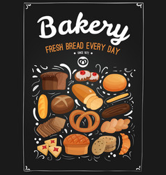 Bakery chalkboard vector