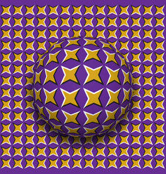 Ball with a four pointed stars pattern rolling vector