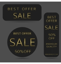 Best offer banners vector image