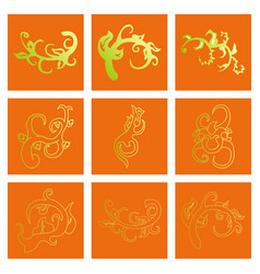 Big floral set for spring design floral elements vector