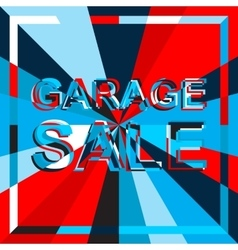 Big ice sale poster with GARAGE SALE text vector