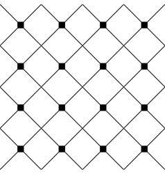 Black Square Diamond Grid White Background vector