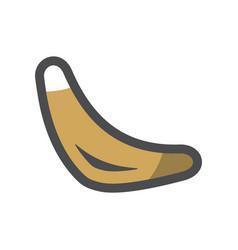 boomerang flying device icon cartoon vector image
