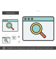 Browse line icon vector