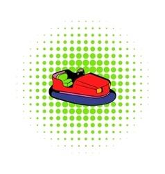 Bumper car icon comics style vector
