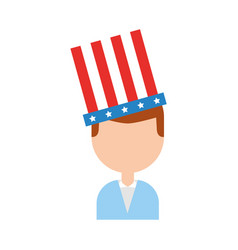 businessman with american hat isolated icon vector image