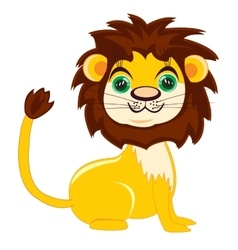 Cartoon nice lion vector image