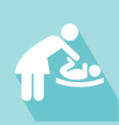 Change diapers icon vector