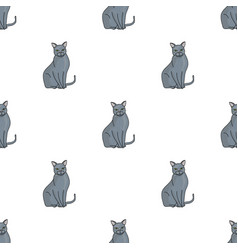 Chartreux icon in cartoon style isolated on white vector