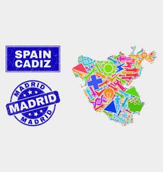 Map Of Spain Cadiz.Cadiz Map Collage Vector Images 20