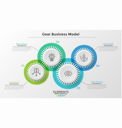 Concept of coordinated work or business activity vector