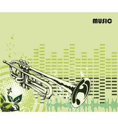 Concert poster with trumpet vector