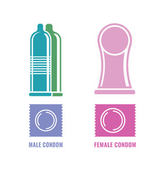 Condoms set image vector