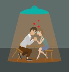 couple lovers at the cafe vector image