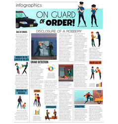 Criminals infographic set vector