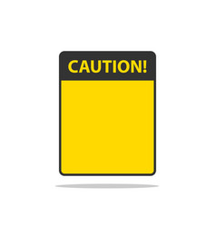 danger sign isolated warning label empty template vector image