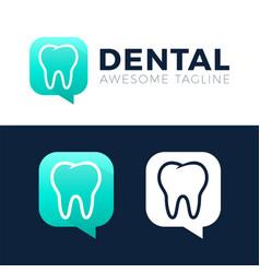 dental consult logo designs concept dental chta vector image