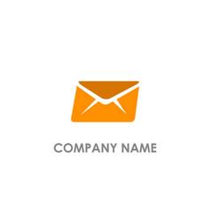 envelope fast mail logo vector image