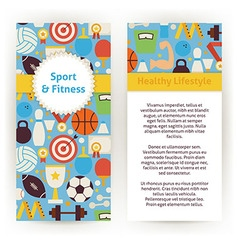 Flyer Template of Sport and Fitness Objects and vector