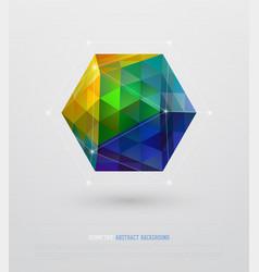 geometric minimal web template vector image