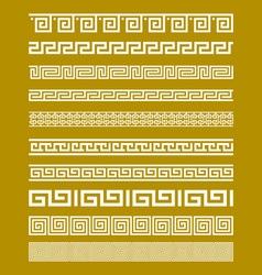 Gold Meander Patterns vector