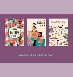 Happy fathers day templates vector