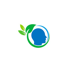 head wellness logo icon design vector image
