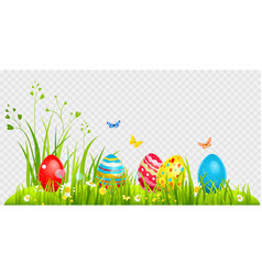 hunting easter eggs vector image