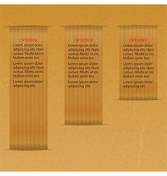 Infographic on brown paper vector