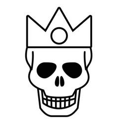 Isolated skull head design vector