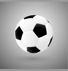 Isolated soccer ball with classic design vector