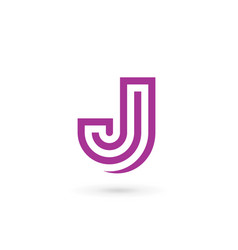letter j logo icon design template elements vector image vector image