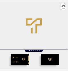 Letter t tt logo design simple vector