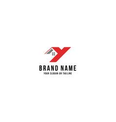 Letter y home logo design vector