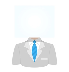 Man with a white paper sheet vector