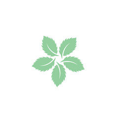mint leaves flat icon vector image