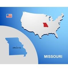 Missouri vector image