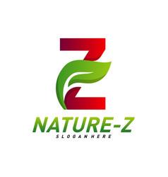 nature z logo design initial z logo template vector image