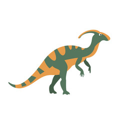 parasaurolophus dinosaur of jurassic period vector image