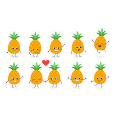 pineapple emoticon n1 vector image