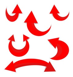 red arrow paper icon rounded vector image