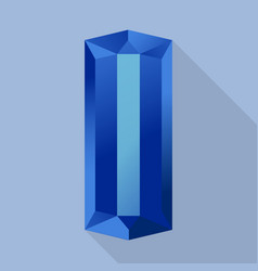 sapphire icon flat style vector image