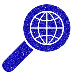 Search globe place icon grunge watermark vector