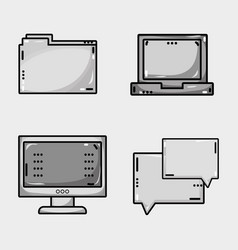 set programmer data information technology vector image