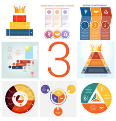 set universal templates elements infographics vector image