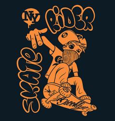 Skate rider t-shirt graphics vector