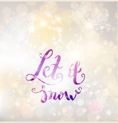 snow winter background vector image
