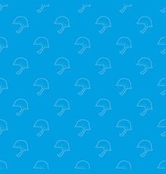 Soldier helmet pattern seamless blue vector