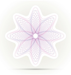 Spirograph ornament background vector image
