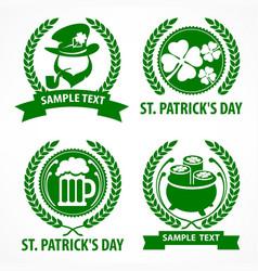St patrick s day symbols vector